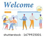 welcome inscription and... | Shutterstock .eps vector #1679925001