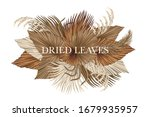 boho bouquet dried palm leaves... | Shutterstock .eps vector #1679935957