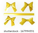 set of gold ribbons with... | Shutterstock . vector #167994551