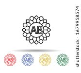 ab blood multi color icon....