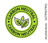 Carbon Neutral Icon Stamp. Co2...