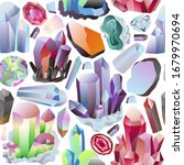 minerals crystals and gems... | Shutterstock .eps vector #1679970694