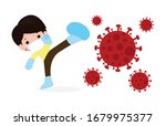 cute kids fight with... | Shutterstock .eps vector #1679975377