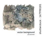 vector gray watercolor... | Shutterstock .eps vector #167998181