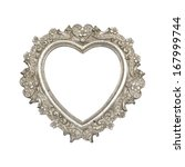 Old silver heart picture frame...