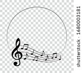 music notes in round frame ...   Shutterstock .eps vector #1680003181