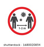 social distancing icon. keep... | Shutterstock .eps vector #1680020854