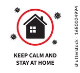 keep calm and stay at home.... | Shutterstock .eps vector #1680024994