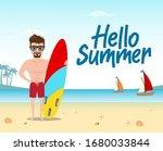 hello summer vector concept...   Shutterstock .eps vector #1680033844