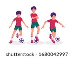 boy playing football collection ...