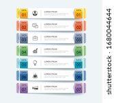 7 data infographics tab paper... | Shutterstock .eps vector #1680044644