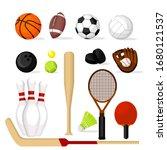 cartoon color sport equipment... | Shutterstock .eps vector #1680121537