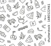 black and white seamless... | Shutterstock .eps vector #1680122461