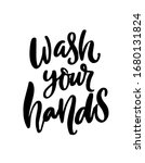 wash your hands quote for... | Shutterstock .eps vector #1680131824