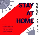 stay at home poster. covid 19... | Shutterstock .eps vector #1680154267