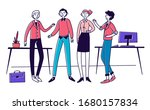 creative team in their office.... | Shutterstock .eps vector #1680157834