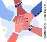 arms of multiethnic women... | Shutterstock .eps vector #1680158941