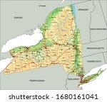 high detailed new york physical ...   Shutterstock .eps vector #1680161041