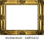 decorative antique gold frame ... | Shutterstock . vector #16801612