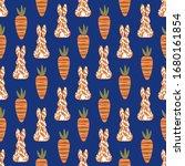 easter bunny silhouette  back... | Shutterstock .eps vector #1680161854