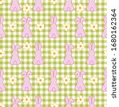 polka dots easter bunny... | Shutterstock .eps vector #1680162364