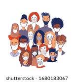 adult women men children... | Shutterstock .eps vector #1680183067