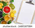 Clipboard With Healthy Products ...