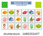 memory game with cartoon fish.... | Shutterstock .eps vector #1680202657