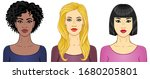 set of cartoon portraits women... | Shutterstock .eps vector #1680205801
