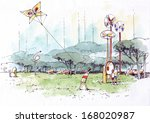children's amusement park 1 | Shutterstock . vector #168020987