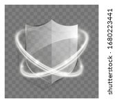 3d transparent shield icon with ...   Shutterstock .eps vector #1680223441