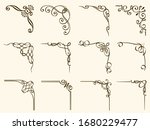 set of vintage frame corners... | Shutterstock .eps vector #1680229477