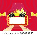 red carpet hollywood premier  ... | Shutterstock .eps vector #168023255