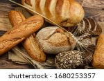 Fresh Loaves Of Bread With...