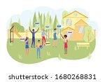 children summer camp with... | Shutterstock .eps vector #1680268831