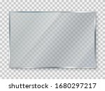 glass plate on transparent... | Shutterstock .eps vector #1680297217
