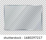 glass plate on transparent... | Shutterstock .eps vector #1680297217