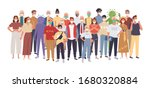 crowd of people wearing medical ... | Shutterstock .eps vector #1680320884