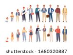 human life cycle flat vector... | Shutterstock .eps vector #1680320887