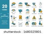 risk management icon set.... | Shutterstock .eps vector #1680325801