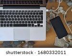 Laptop Charging A Black...