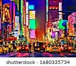neon at new york city usa... | Shutterstock . vector #1680335734