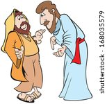 art,bible,cartoon,character,doubter,illustration,jesus,male,man,marketing,people,religion,the,thomas,work