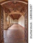 toledo   march 8  gothic atrium ... | Shutterstock . vector #168036287