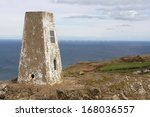 trig point at the top of the... | Shutterstock . vector #168036557