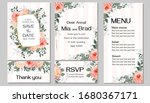 elegant template for a wedding... | Shutterstock .eps vector #1680367171