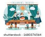 children theater play  kids in...   Shutterstock .eps vector #1680376564