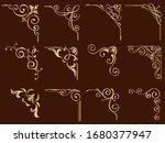 set of gold vintage frame... | Shutterstock .eps vector #1680377947