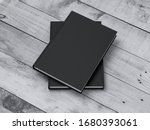 two black books mockup with... | Shutterstock . vector #1680393061