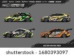 car wrap graphic design vector... | Shutterstock .eps vector #1680393097
